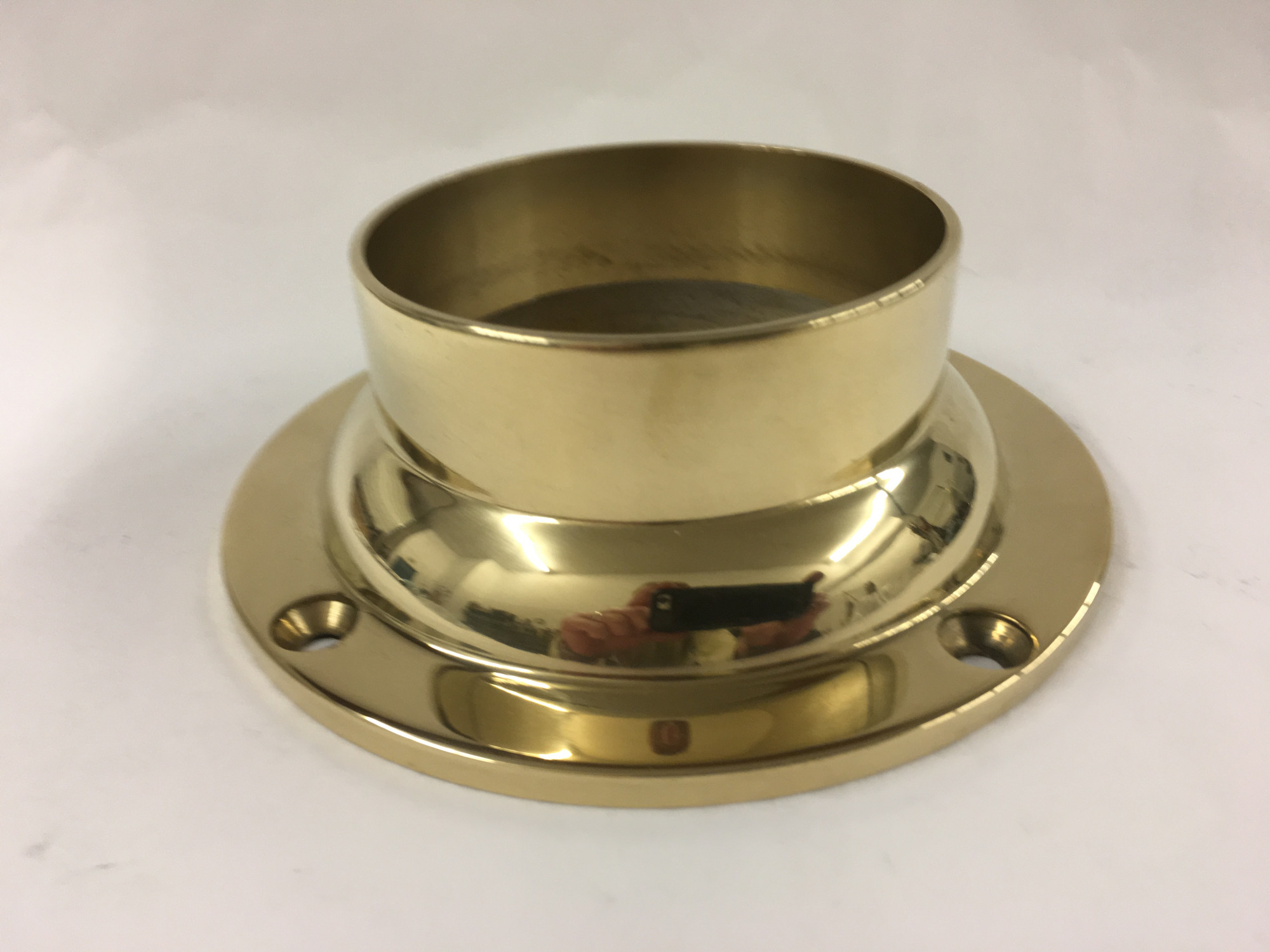 Polished Brass Wall Flange (3in)