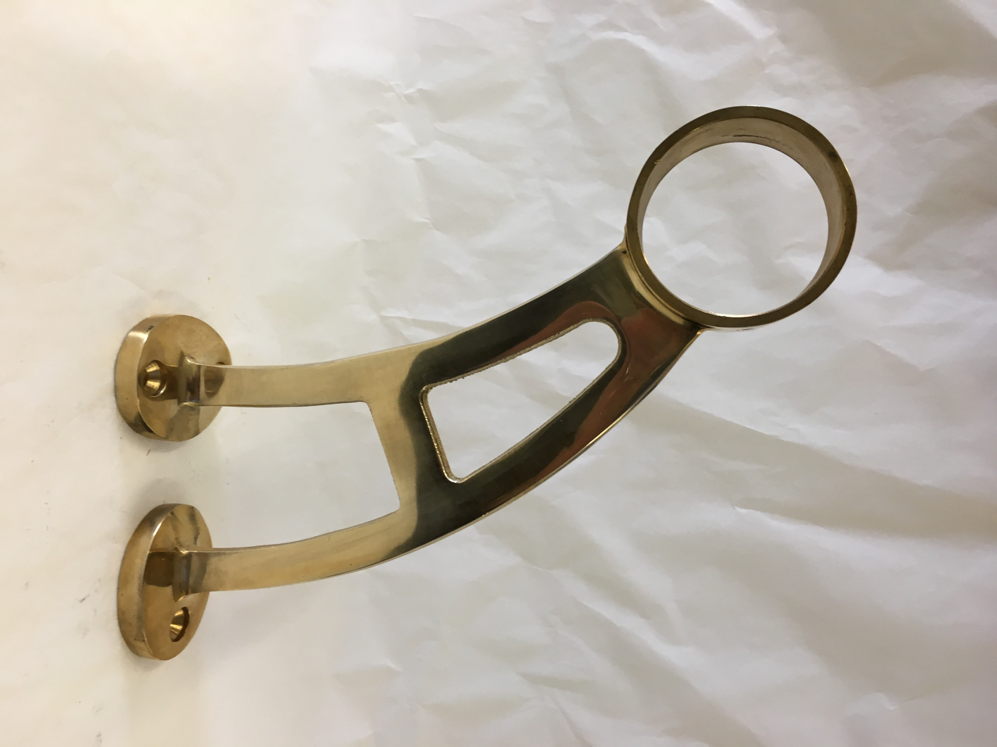 Polished Brass Bar Bracket (2in)