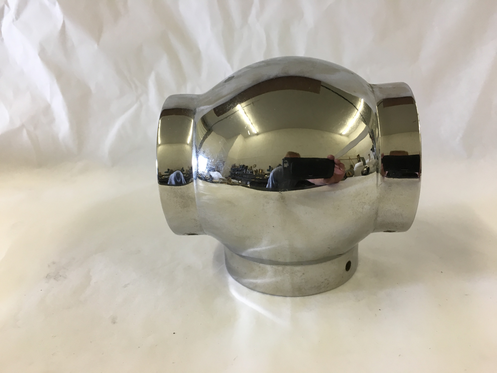 Polished Stainless Ball Tee Fitting  (2in)