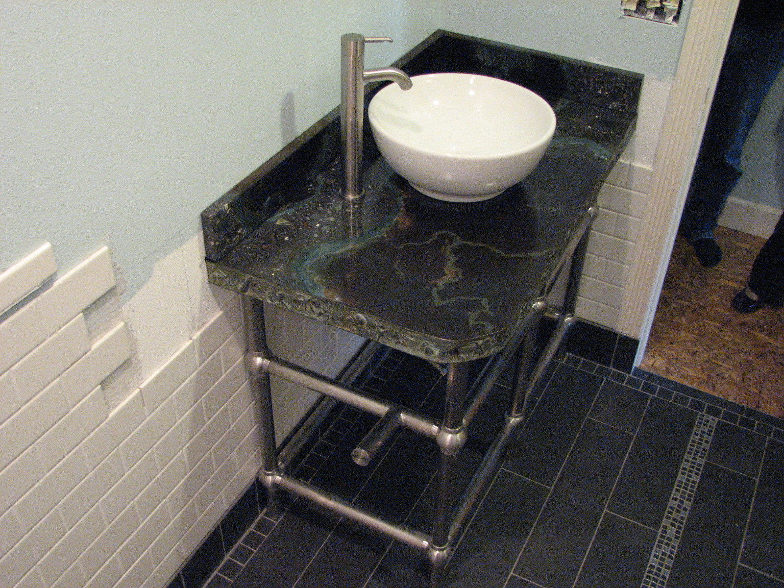 Brass , Stainless Steel Vanity Stands (Built to order.)
