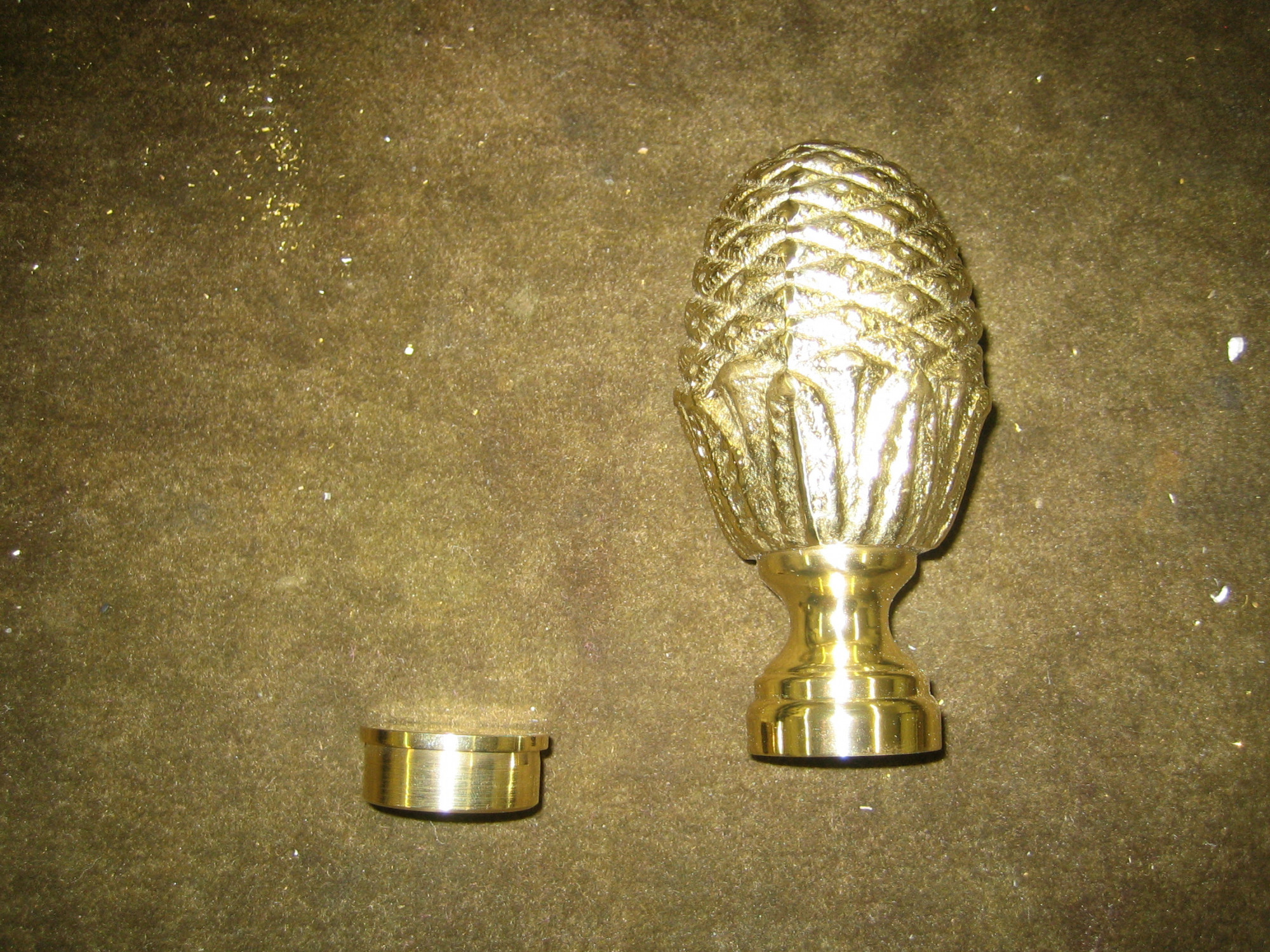 Polished Brass Decorative End Cap (2in)