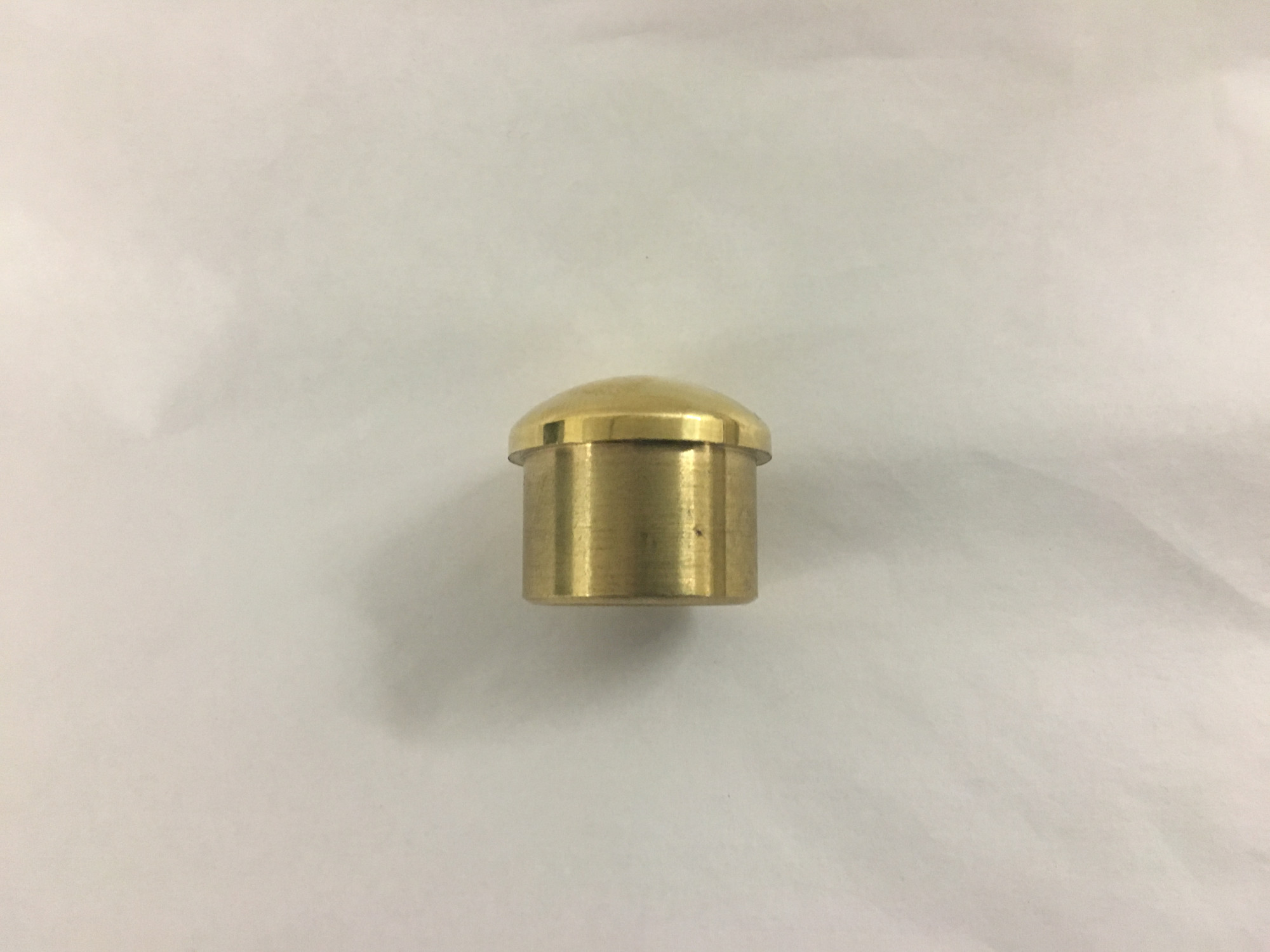 Polished Brass Semi Domed End Cap (1 inch)