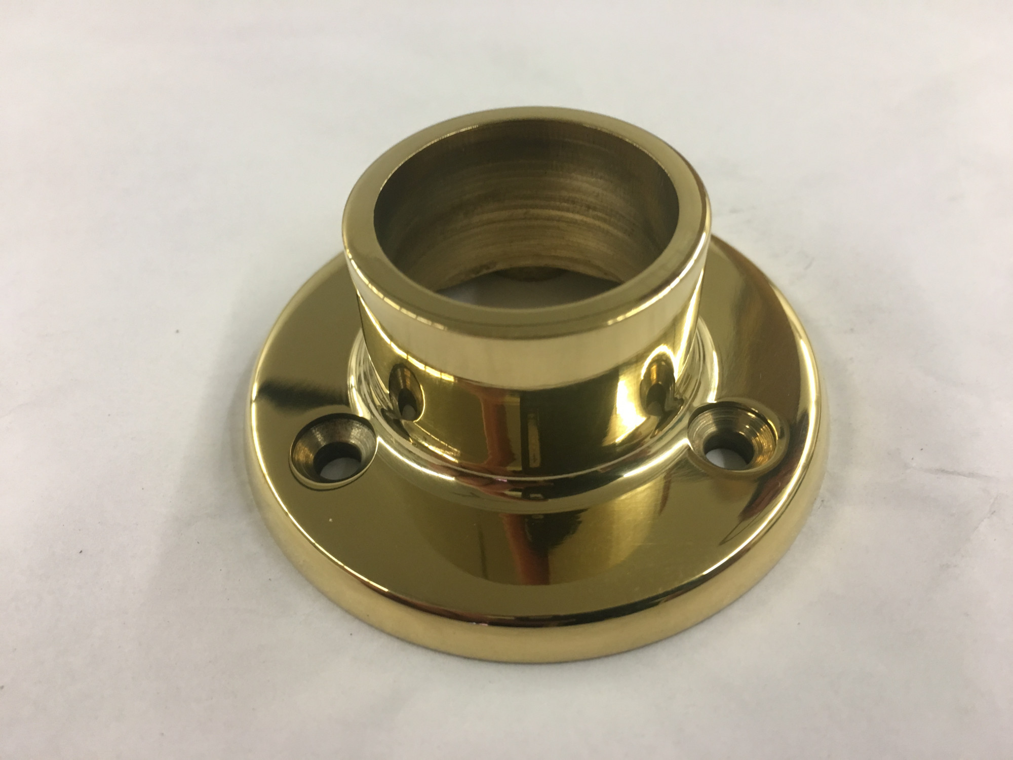 Polished Brass Long Neck Flange (1 in.)