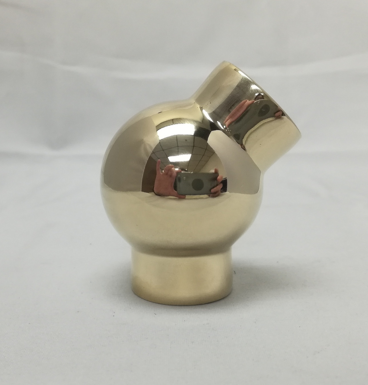 Polished Brass 45 Degree ball fitting (1 in.)