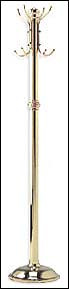 Polished Brass Pedestal Coat Rack (75in High)