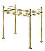 Solid Brass Bar Mounted Glass Rack ()