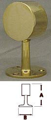 Polished Brass Flush End Post Fitting (1-1/2in)