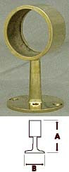 Polished Brass Flush Center Post Fitting  (1in)