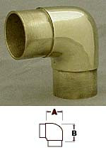 Polished Brass Flush Elbow Fitting  (3in)