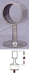 Polished Stainless Flush Center Post Fitting  (1-1/2in)