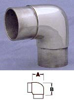 Satin Stainless Flush Elbow Fitting (2in)