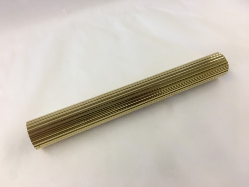 Polished Brass Round Reeded Tubing (1 Inch)