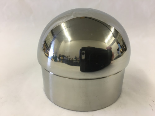 Polished Stainless Domed End Cap (2in)