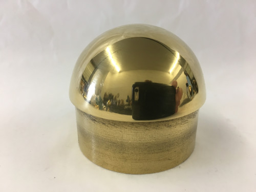 Polished Brass Domed End Cap (2in)