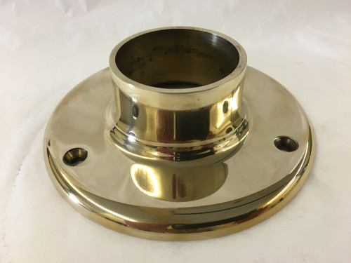 Polished Brass Wall Flange (2in)