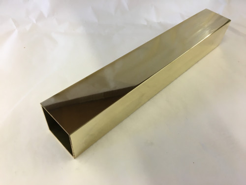 Polished Brass Square Tubing (1-1/2 x .050)