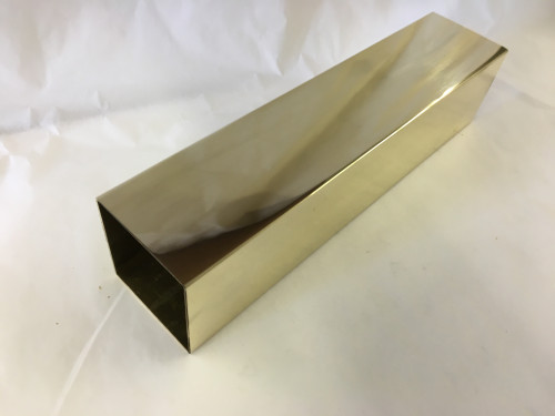 Polished Brass Square Tubing (2 x .050)