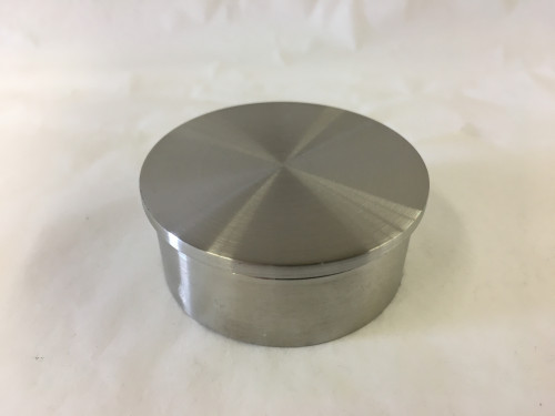 Satin Stainless Flush End Cap (1-1/2in)
