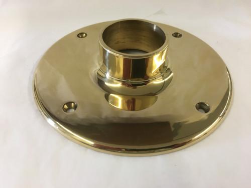 Polished Brass Heavy Duty Floor Flange (2in)