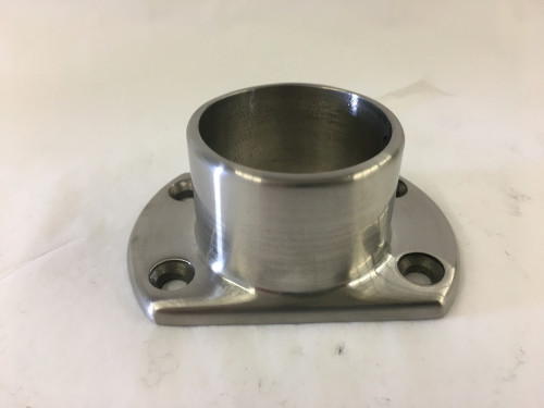 Satin Stainless Cut Wall Flange (1-1/2in)