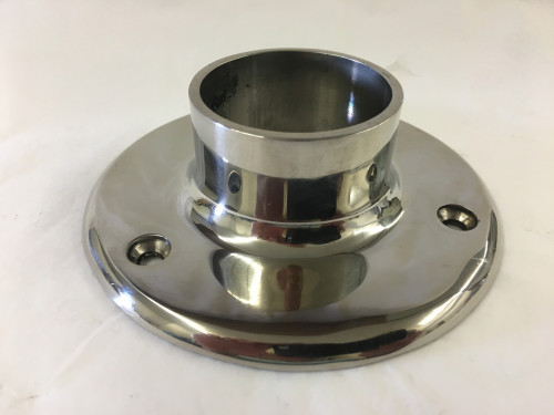 Polished Stainless Wall Flange (2in)