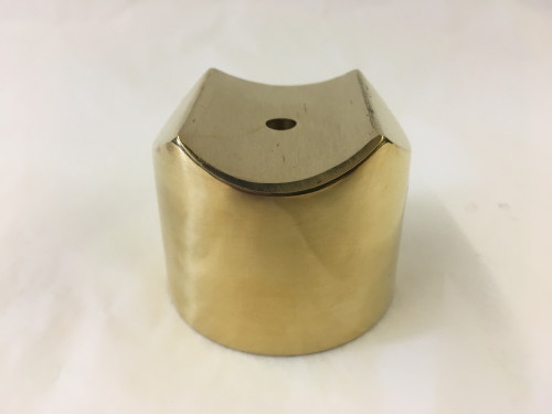 Polished Brass External Flush Angle Collar  (1-1/2in)
