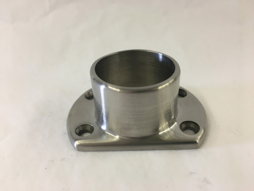Satin Stainless Cut Wall Flange (2in)