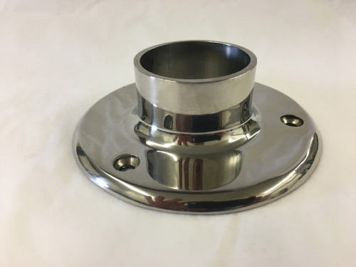 Polished Stainless Floor Flange (2in)