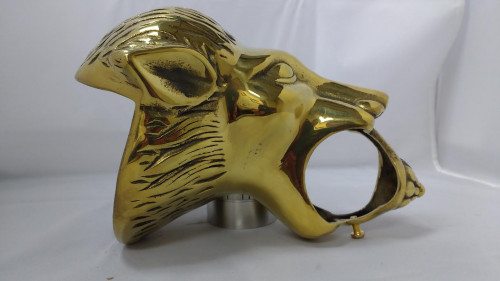 Polished Brass Lion Head Bracket (2in)