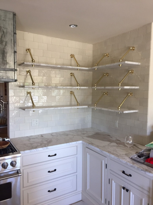 Brass, Custom Metal Finishes Custom Shelf Brackets (Built to order.)