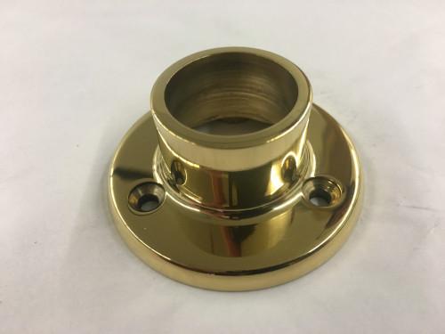 Polished Brass Long Neck Flange (1 in.)