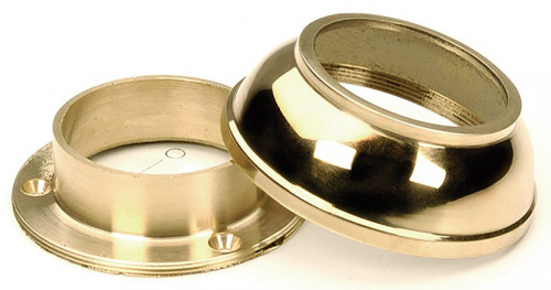 Polished Brass Wall Flange with Cover (1 in.)
