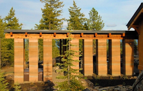Whitefish Architect's Journal - Rammed Earth Architecture