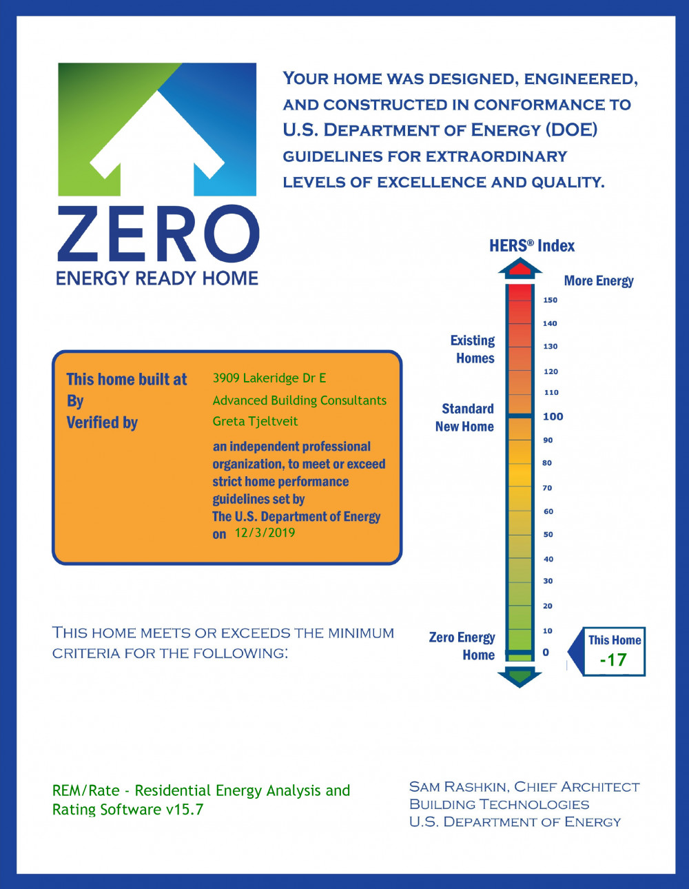 Coeur d'Alene Architect's Journal - HERS Index:  The Home Energy Rating System