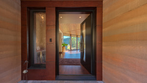 We designed the entry door specially for this project.