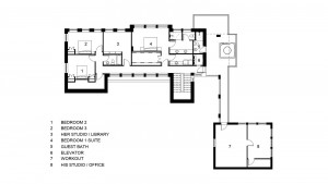 CONCEPTUAL UPPER LEVEL PLAN - TWO STORY CONCEPT ::  Residence 2050 Square Feet, Garage 681 Square Feet