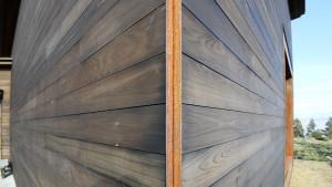 Steel corner detail.
