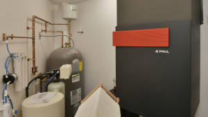 Mechanical room.  Water systems, energy recovery ventilation.  No furnace.