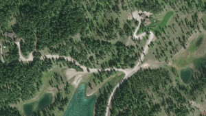 Satellite image.