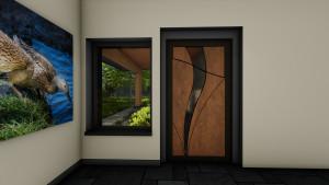 Custom  entry door detail