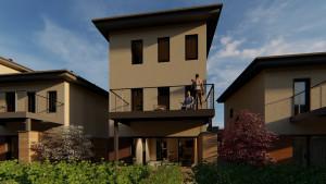 'E' Units: 1800 Square Foot 4 Bedroom 2.5 Bath Floor Plans
