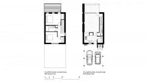 'D' Units: 1200 Square Foot 2 Bedroom 1.5 Bath Floor Plans