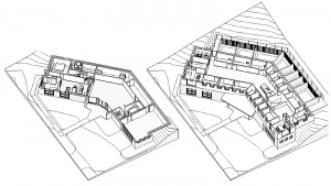Three Dimensional Sectional Views - Lower and Upper Levels