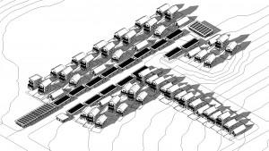Conceptual Site Plan - 50 Residences, 2 Carport spaces per dwelling