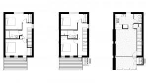 3 Level 1800 Square Foot 4 Bedroom 2 Bath Floor Plans