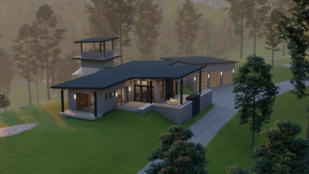 Sandpoint Architect's Vision - Autonomous Deep Forest Living