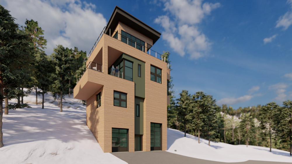 Sandpoint Architect's Vision - Schweitzer Mountain Overlook