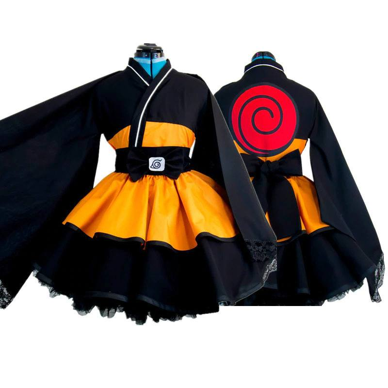 Cosplay Kimono Uzumaki Naruto Lolita - Naruto Shippuden