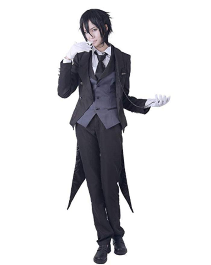 Cosplay Sebastian Black Butter Kuroshitsuji (sem peruca)