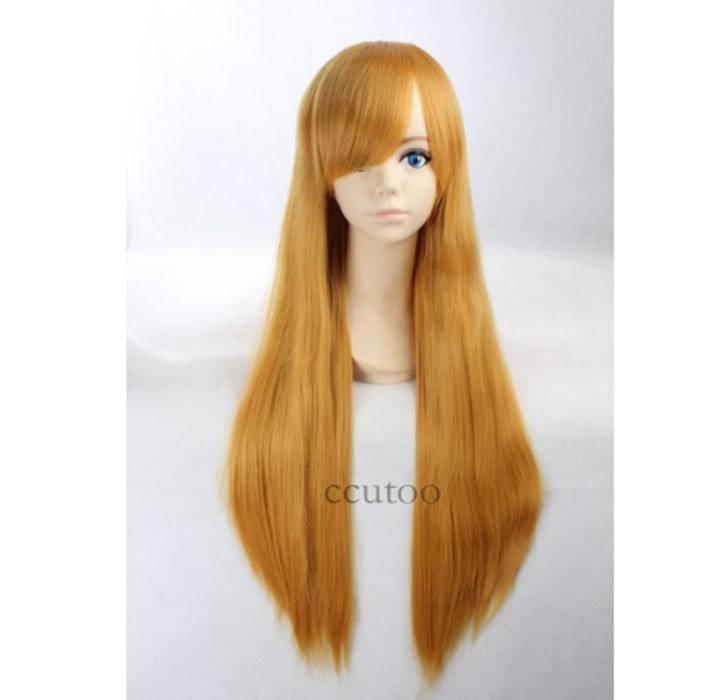 Peruca Amarela 80 cm Lisa